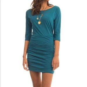 Synergy Organic Dress Deep Sea Blue/Green